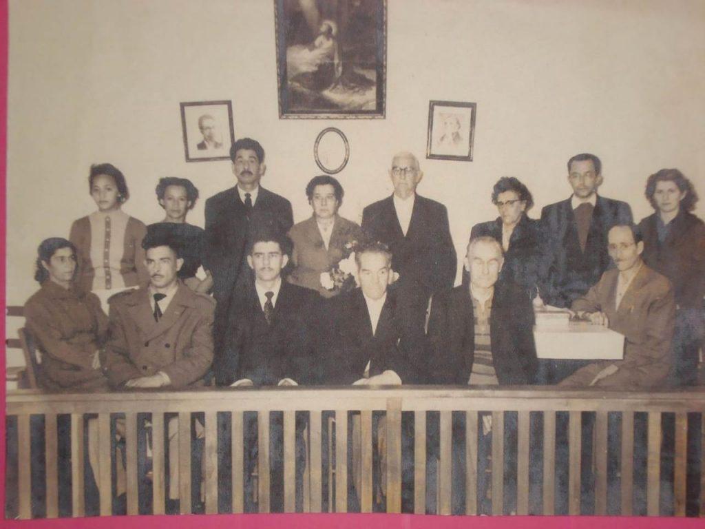 Formação da primeira diretoria da casa